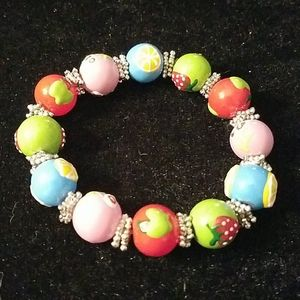 "Fruit Theme Beaded Stretch 8"" Bracelet"